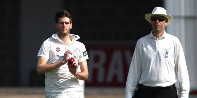 Left arm seam bowler David Payne missed the chance of day's bowling against Durham MCCU after picking up a hand injury during the morning session on the ...