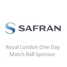 Safran match ball sponsor logo