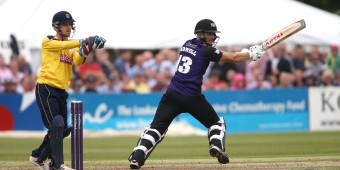 Gloucestershire v Hampshire 14/7/15 from the College Ground, Cheltenham Pic by Martin Bennett