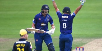 Gloucestershire CCC v Hampshire CC Royal London One Day Cup from the County Ground , Bristol 26/8/15 Pic by Martin Bennett