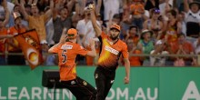during the Big Bash League Semi Final match between the Perth Scorchers and the Melbourne Stars at WACA on January 25, 2015 in Perth, Australia.