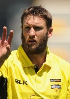 BRISBANE, AUSTRALIA - OCTOBER 08:  Andrew Tye of the Warriors prepares to bowl during the Matador BBQs One Day Cup match between South Australia and Western Australia at The Gabba on October 8, 2014 in Brisbane, Australia.  (Photo by Matt Roberts/Getty Images)