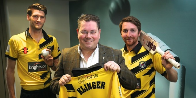 BNS new shirt sponsor of Gloucestershire CCC see Press Release for caption Pic by Martin Bennett