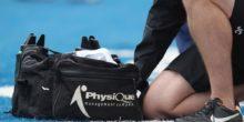 PhysiQue Management Company physio bag. Saracens v Gloucester, Aviva Premiership, Rugby Union, Allianz Park, 15/09/2013 © Matthew Impey/Wiredphotos.co.uk. tel: 07789 130 347 email: matt@wiredphotos.co.uk