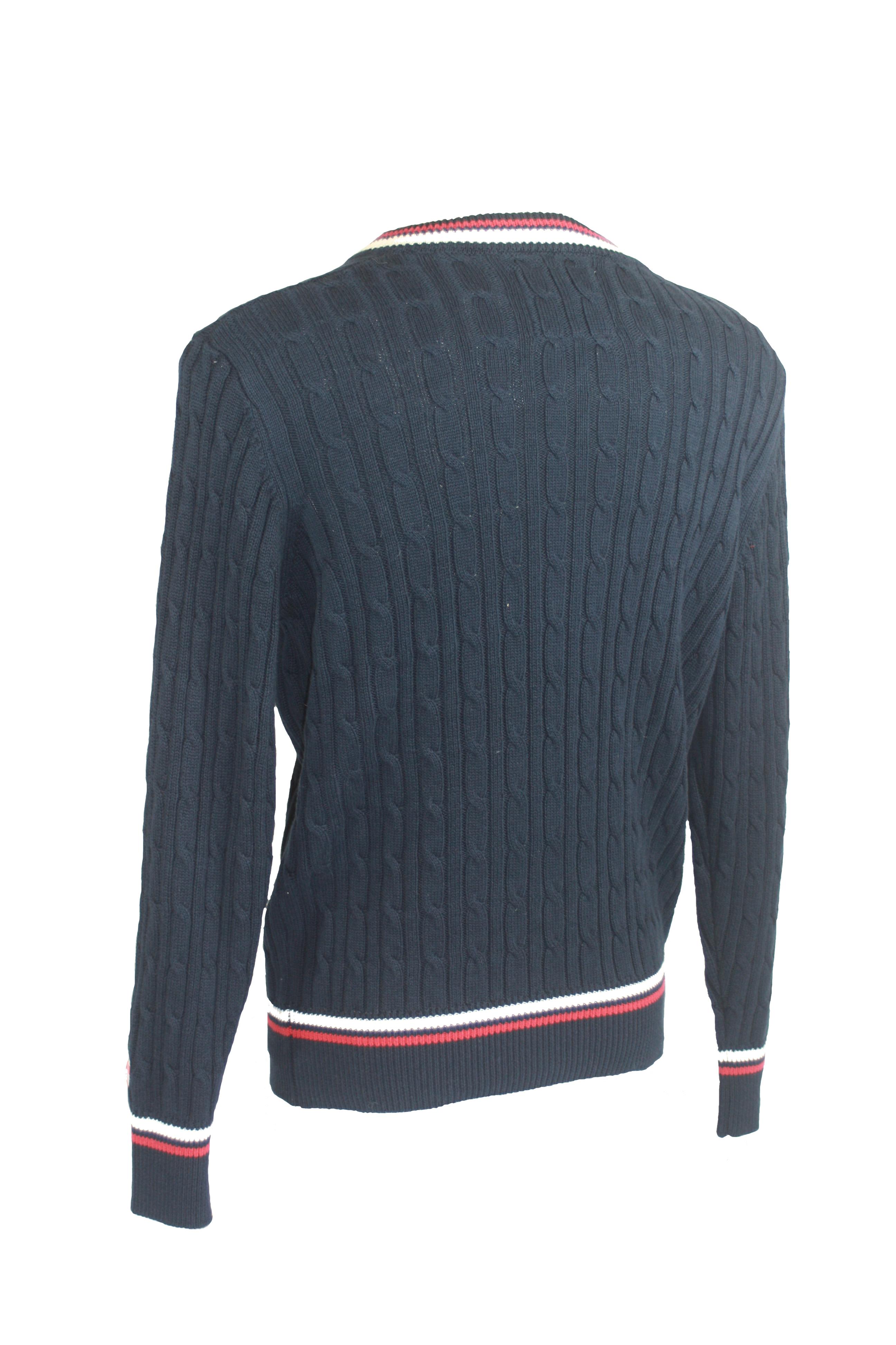 Knitting Pattern Cricket Jumper : England Cricket Classic Knit Jumper Navy Gloucestershire Cricket