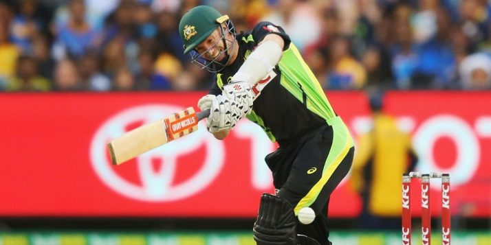 during the first International Twenty20 match between Australia and Sri Lanka at Melbourne Cricket Ground on February 17, 2017 in Melbourne, Australia.