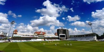 NOTTINGHAM, ENGLAND - MAY 16:  A general view of play during day two of the LV County Championship division one match between Nottinghamshire and Surrey at Trent Bridge on May 16, 2013 in Nottingham, England.  (Photo by Laurence Griffiths/Getty Images)