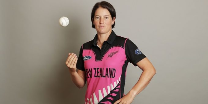 MELBOURNE, AUSTRALIA - FEBRUARY 15:  Holly Huddleston poses during a New Zealand Women's T20 headshots session at the Langham Hotel on February 15, 2017 in Melbourne, Australia.  (Photo by Scott Barbour/Getty Images)
