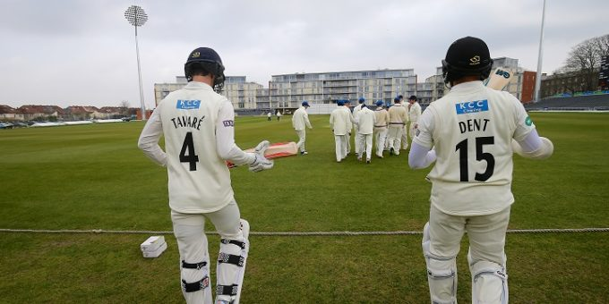 Gloucestershire CCC v Durham MCCU at Bristol 28-3-17 Pic by Martin Bennett