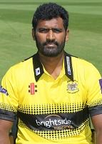 Sri Lankan Thisara Perera Gloucestershire T20 overseas player 2017 Pic by Martin Bennett