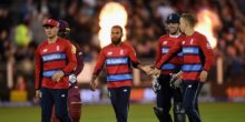 during the  NatWest T20 International match between England and the West Indies at Emirates Durham ICG on September 16, 2017 in Chester-le-Street, England.