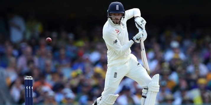 BRISBANE, AUSTRALIA - NOVEMBER 23: James Vince of England bats during day one of the First Test Match of the 2017/18 Ashes Series between Australia and England at The Gabba on November 23, 2017 in Brisbane, Australia.  (Photo by Cameron Spencer/Getty Images)