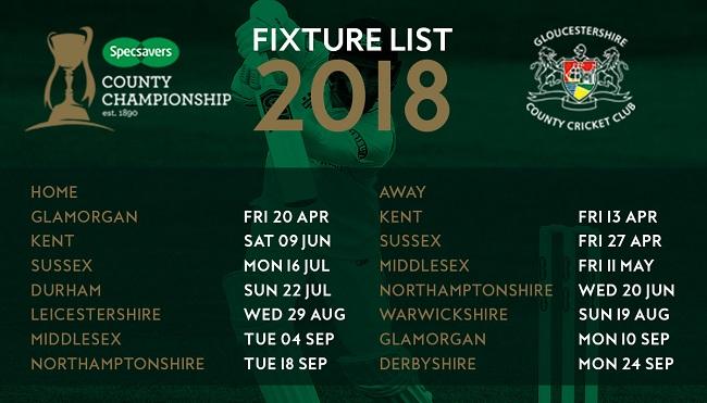 Gloucestershire Specsavers CC Fixtures - Website