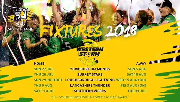 Western Storm to play at Cheltenham Cricket Festival in 2018