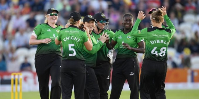 <>during the Women's Kia Super League Final between Southern Vipers and Western Storm at The 1st Central County Ground on September 1, 2017 in Hove, England.